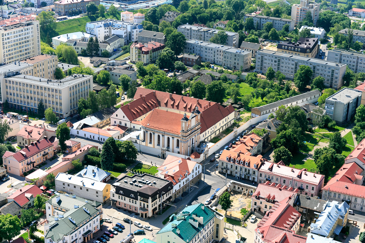 The capital of Belarus with a bird's eye view